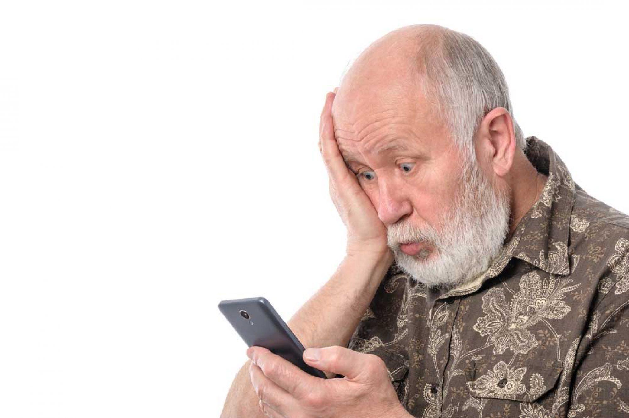 Senioren können auch Handy
